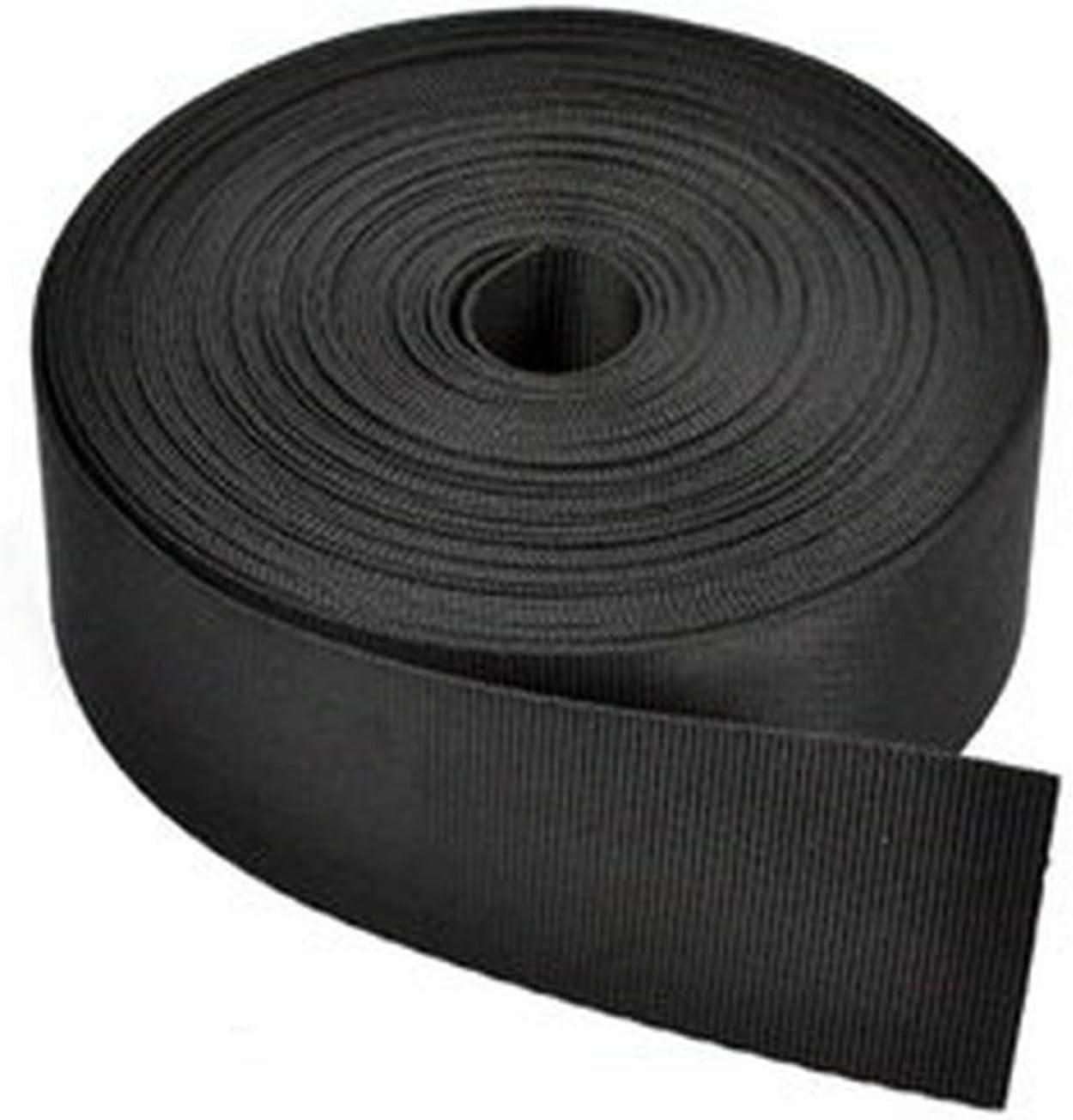 RETON 10 Yards Black Nylon Heavy Webbing 2 1 In Strap Polypro Ranking High material TOP7