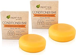 Solid Conditioner Bars, Made With Natural & Organic Ingredients, All Hair Types, Sulfate-Free, Cruelty-Free & Vegan. Two 2...