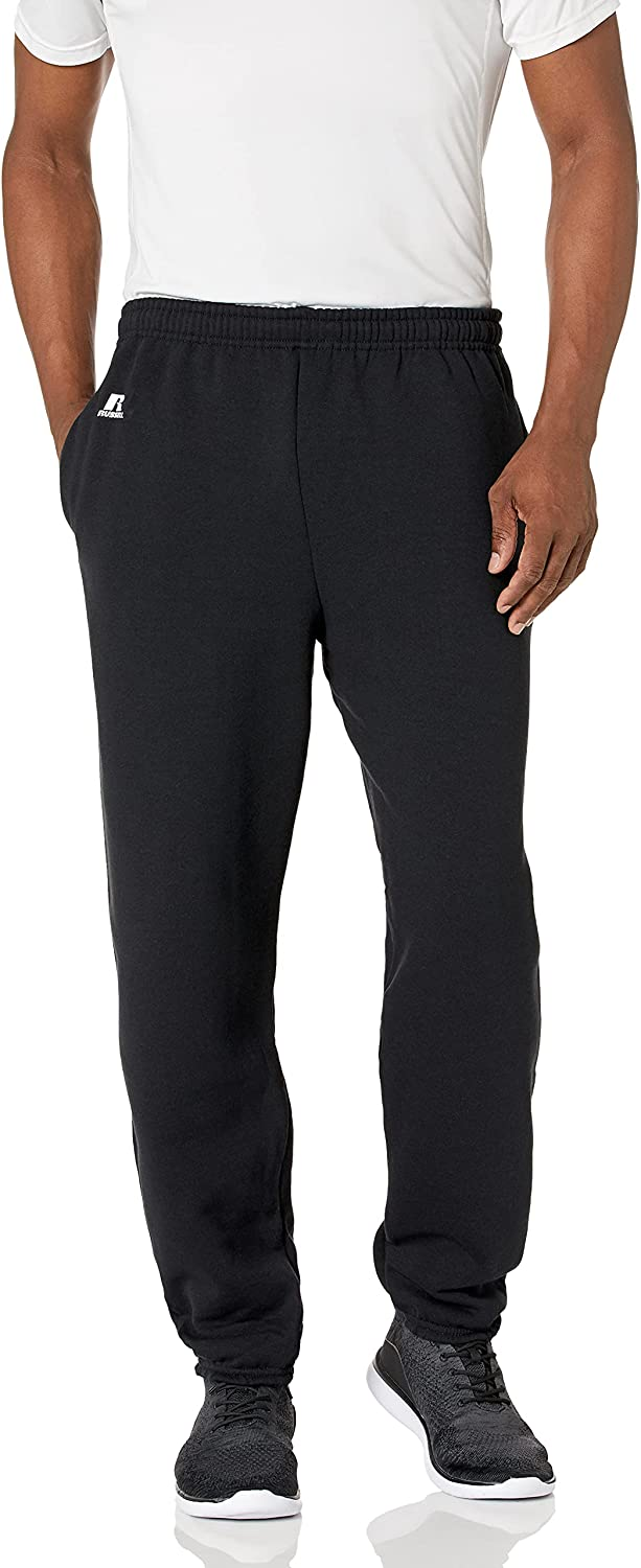 Russell Athletic Men's Large special price Ranking TOP16 Dri-Power Hemmed Closed Elastic Fl Bottom