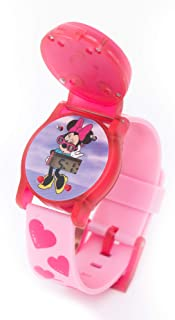 Disney Minnie - Rotating Flip-Top Digital Watch with 3D Rubber Character and Pressing Flashing Light - Outdoor Electronic Wristwatch (6-15 years Boys)