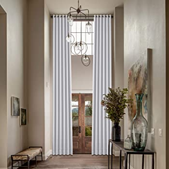 Amazon Com Macochico Extra Long Greyish White Curtains For Living
