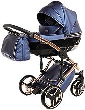 Cochecito de bebé Junama Diamond Fluo Line 2en1 carro duo capazo+silla (azul)