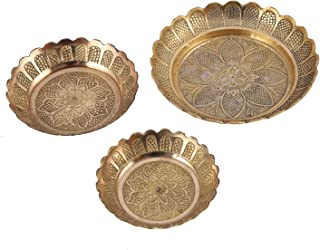 Aatm Amboz Plate (Set of 3) L-Dia 4.8inch, M-Dia 3.8inch, S-Dia 3.3inch & Height All .5inch