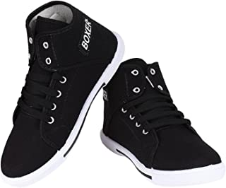 CRYSTAL FASHIONABLE Canvas Casual Shoes Sneaker- Black Boxer