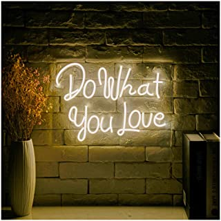 Do What You Love LED Neon Sign Lights Art Wall Decorative Lights16.5''x11.7 (Do What You Love-Warm White)