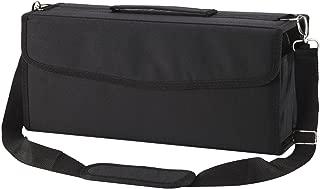 Toprema Marker Pen Case Lipstick Case 122 Slots Holder Bag Organizer with Carrying Handle and Baldric for Primascolor Marker Copic Marker Liquid Highlighter Black