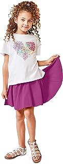 KIDPIK Shorts for Girls - 2 Pack Kids 5 Pocket Knit Bermuda Spring or Summer Shorts