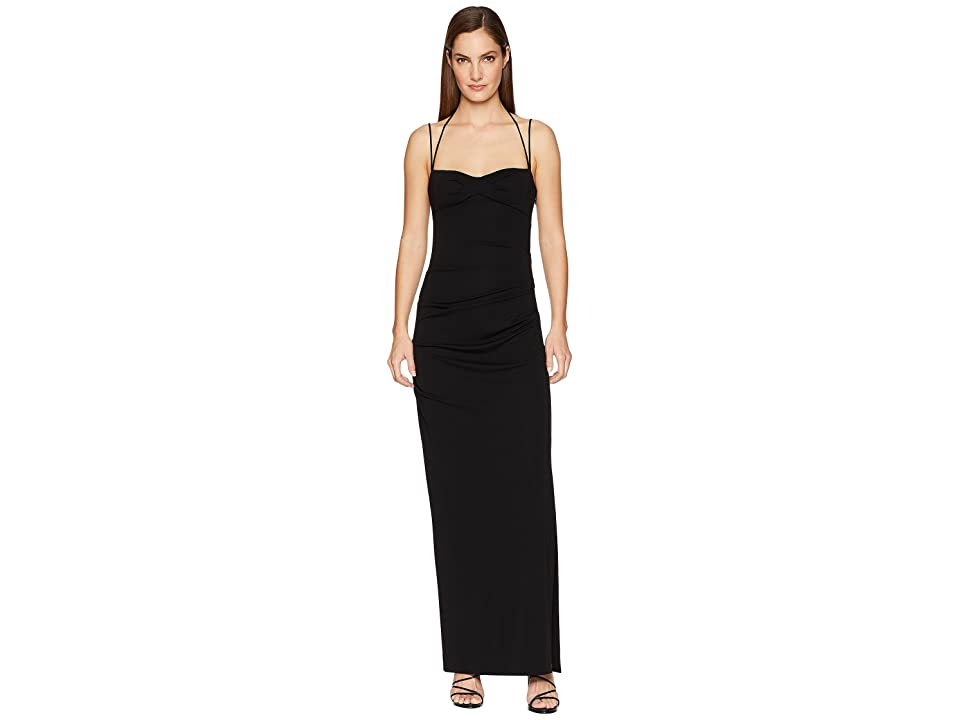 Nicole Miller Tidal Pleat Gown (Black) Women