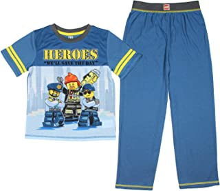 Seven Times Six Lego City Heroes Boys' Police Fireman 2 Piece Shirt and Pants Pajama Set