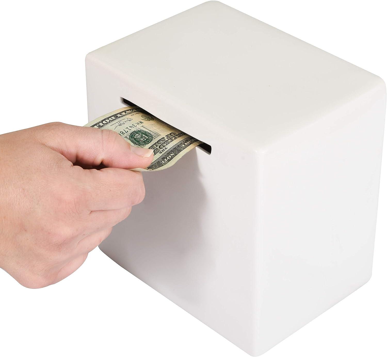 Piggy Bank for Adults - Must Money to Access depot Sav Break High order Ceramic