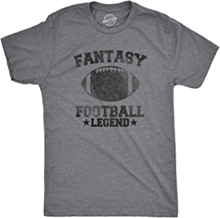 Crazy Dog T-Shirts Mens Fantasy Football Legend Tshirt Funny Sarcastic Sports Team Tee