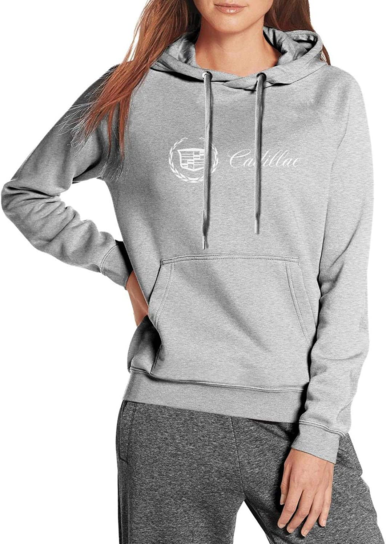 Cadillac-for-Sale-Near-me-Logo- Hoodie for 秀逸 ファッション通販 Kangaroo Pocket Women