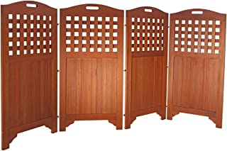 VIFAH V163 Acacia Hardwood Privacy Screen