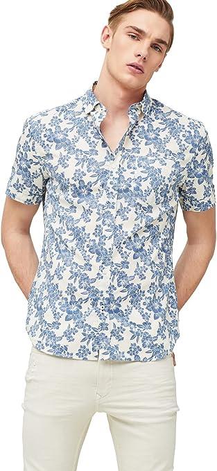 MANGO MAN - Camisa casual - para hombre crudo X-Small: Amazon ...