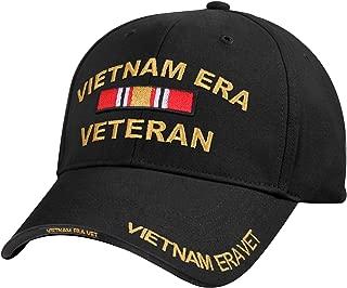 Deluxe Low Profile Vietnam Veteran Era Cap Black