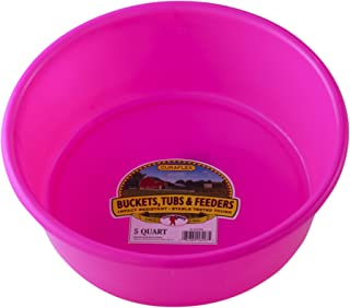 Little Giant P5HOTPINK Dura-Flex Plastic Utility Pan, 5-Quart, Hot Pink