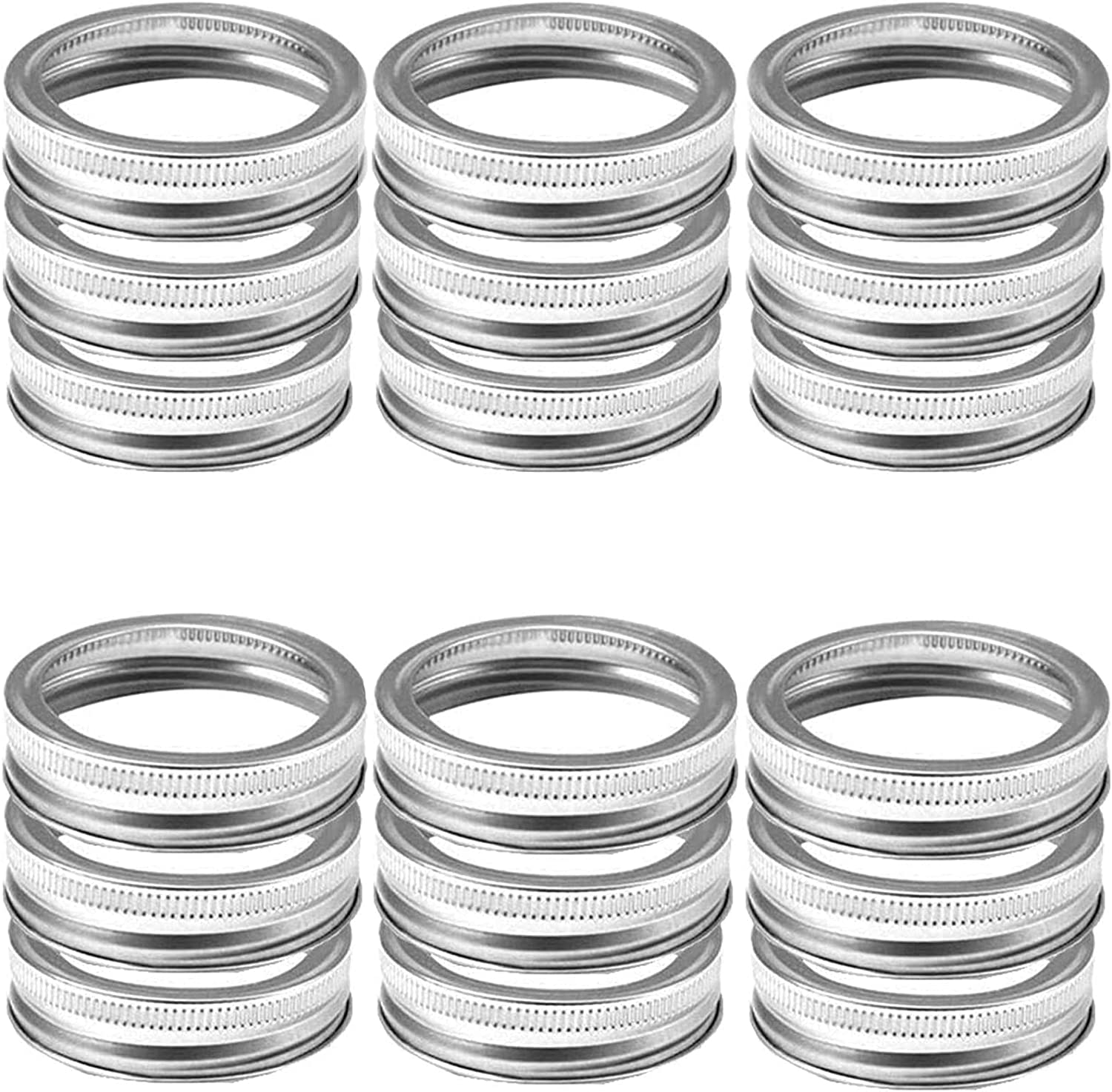 25 Pieces Canning Rings Superlatite Wide Stainless New sales Lids Mouth Mason