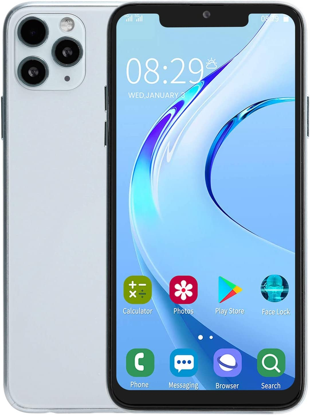 Jacksonville Mall FOLOSAFENAR 6.5In Android Smartphone 128 100 White Storage Gb National products of