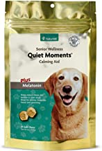 NaturVet – Senior Wellness Quiet Moments Calming Aid for Dogs - Plus Melatonin – Helps Reduce Stress & Promote Relaxation – Great for Storms, Fireworks, Separation, Travel & Grooming – 65 Soft Chews