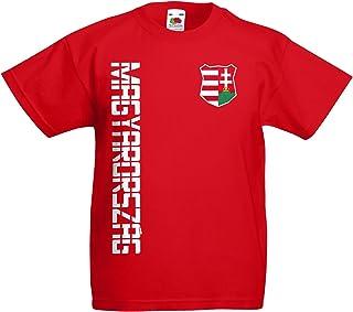 545353b78e AkyTEX Ungarn Magyarország Kinder T-Shirt Trikot Name Nummer
