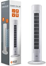 DUTCH ORIGINALS Torenventilator met regelknop, 50W, 3 snelheden, Stille oscillerende kolom, Airconditioning, Slaapkamer, W...