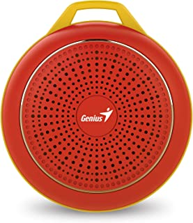 Genius Sp-906Bt Speaker for Mobile Phones - Glowing Red