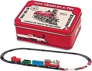 Battery Operated Locomotive Train Track in a Tin Toy Kids 16 Pcs Mini Set NEW For Ages 8+
