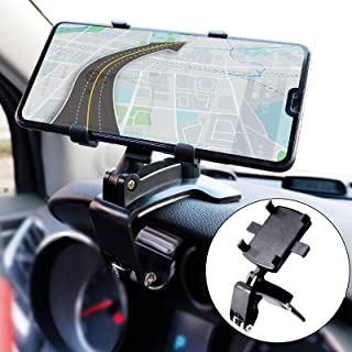 Car Phone Mount, Car Dashboard Phone Holder 360 Degree Rotation Cell Phone Holder for Car Cell Phone Clip for Car Dashboar...