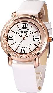 Time100 Women Bracelet Watch Fashion Retro Diamonds Alloy Plating Band Watches (White)