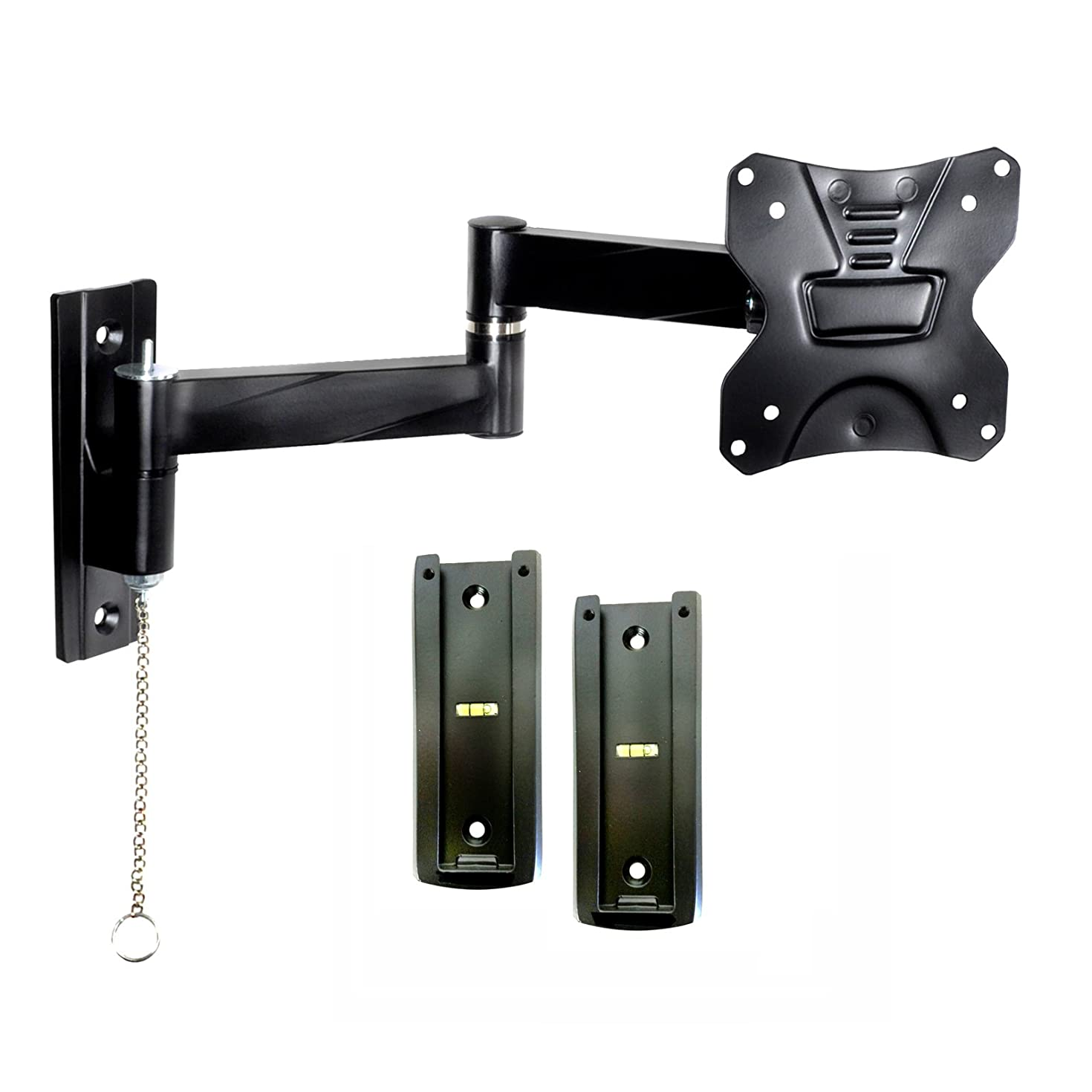 Master Mounts 2311L-2 Portable Travel RV TV Mount Locking Articulating Arm Allows 1 TV to be Used in 2 Locations, Keeps TV Secure in Moving Vehicles up to VESA 100x100