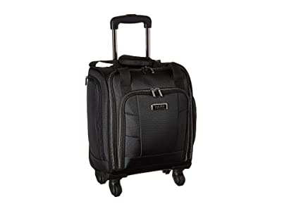 Kenneth Cole Reaction 16 Polyester 4-Wheel Business Underseater (Black) Carry on Luggage