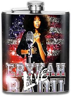BeatriceBGault Erykah Badu Leisure Gifts Stainless Steel 7 Oz Flask/Hip Flask