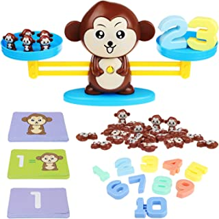 CSSTEL Monkey Balance Cool Math Game for Boys and Girls, Kids Digital Monkey Balance Toy Scale Educational Toy for Toddler Preschoolers Learning Counting Numbers, Basic Addition & Subtraction