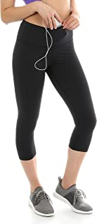 Sport-it Yoga Capri Leggings with Pockets and Tummy Control, Athletic Running Workout Capris Pants for Women