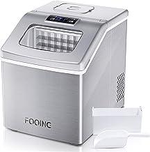 FOOING Machine à glaçons carrée avec plan de travail prêt en 13 minutes 24 grandes sorbetière avec pelle à glace et panier...