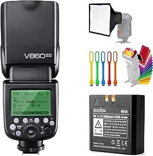 Godox V860II-S مزامنة عالية السرعة GN60 1/8000 2.4G TTL بطارية ليثيوم أيون ضوء فلاش متوافق مع كاميرا سوني و USB LED