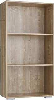 TecTake 800841 Bibliothèque avec 3 Étagères en Bois MDF Meuble de Rangement pour Salon, Bureau, Chambre, Cuisine – Diverse...