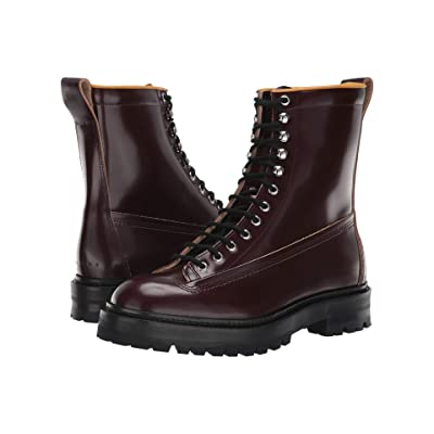 MARNI Lace-Up Lug Sole Boot (Rust) Men