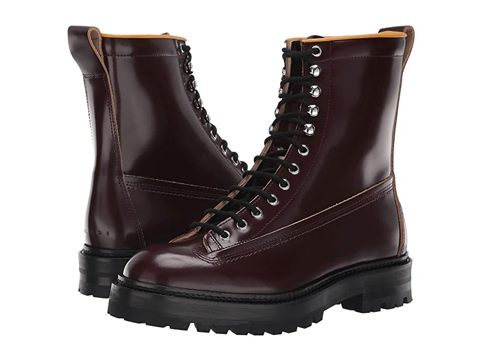 MARNI Lace-Up Lug Sole Boot (Rust) Men