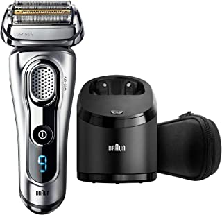 Braun Series 9 9290cc Men's Electric Foil Shaver, Wet and Dry with Clean and Renew Charge Station, Pop Up Trimmer, Rechargeable and Cordless Razor and Travel Case - Silver