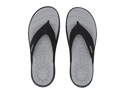 Crocs Reviva Flip (Black/Black) Sandals