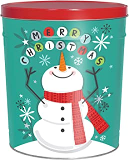 C.R. Frank Popcorn - Gourmet Popcorn Tin, 6.5 Gallon, Cheery Snowman (Butter and Cheese)