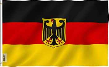 Anley Fly Breeze 3x5 Foot German State Ensign Flag - Vivid Color and UV Fade Resistant - Canvas Header and Double Stitched - Germany Eagle Flags Polyester with Brass Grommets 3 X 5 Ft