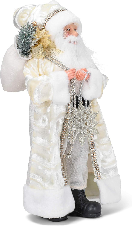 Roman 133122 Ivory Santa with Figurine Fur inch Multi 18 Milwaukee Mall New mail order