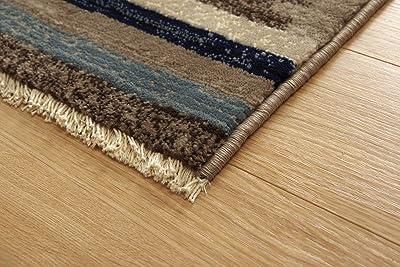 イケヒコ ラグ カーペット プルメリア モルドバ ウィルトン 織り 畳める 約200×250cm ネイビー へたりにくい エスニック #2352259