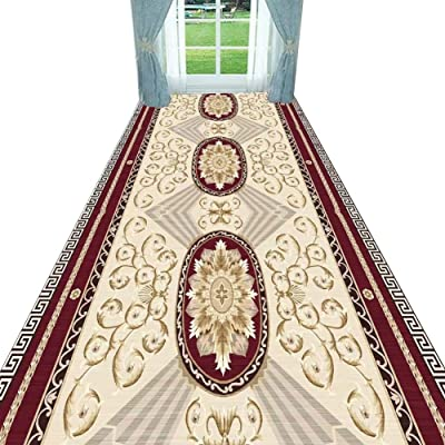 Non-Slip Carpet YANZHEN Hallway Runner Rugs Non-Slip Mat Anti-Static Easy to Clean Extra Long Entrance Blended Fibers, Custom Size (Color : A, Size : 1.8 x 5m)