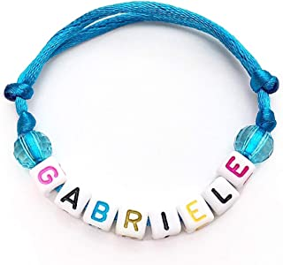 Braccialetto GABRIELE con Nome Messaggio Testo Nickname Logo per adulto, bambino; cubo lettera alfabeto A - Z; Cordoncino ...