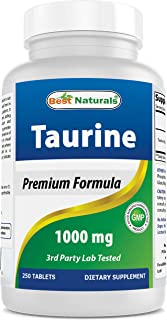 Best Naturals Taurine 1000 mg 250 Tablets - Supports Eye Health, Healthy Cellular Activity & Cardiovascular Health
