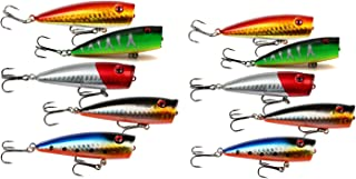 "yueton Lot of 10pcs Fishing Topwater Floating Popper Poper Lure 6.5cm 2.6"" 9g Life-Like Fishing Hooks"