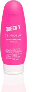 Queen V P.S. I Lube You, Organic Aloe Based Personal Lubricant For Women | Protect, Hydrate, Rejuvenate | Supports Vaginal Health | No Harmful Ingredients, Gynecologist Recommended, Vegan | 3 fl.oz